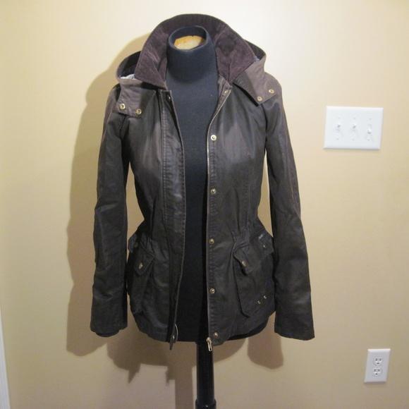 1da10d66 Zara Jackets & Coats | Euc Trf Brown Wax Canvas Jacket | Poshmark